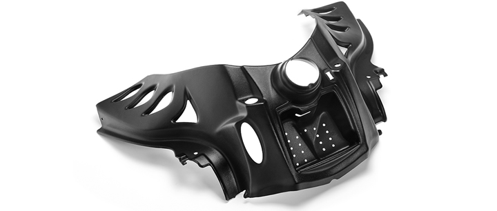 cnc plastic routed piece for automotive
